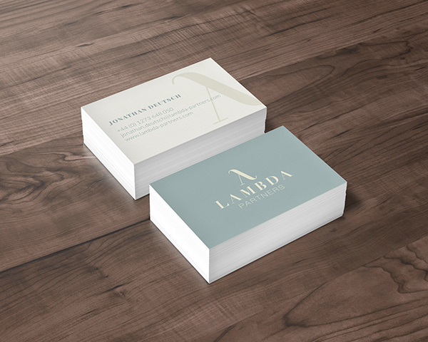 Lambda business card mock up