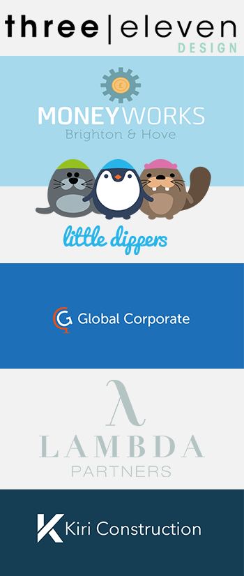 Variety of logo designs completed by Code 7